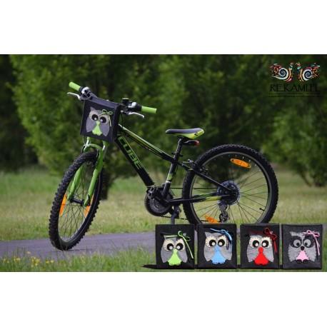 Rowerowa torba dziecięca z sową
