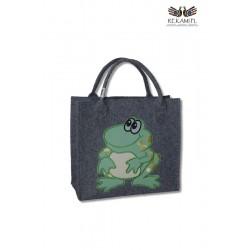 Dziecięca torba filcowa z żabką