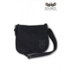 Ciemna torebka na ramię – Sowa
