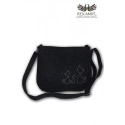 Ciemna torebka na ramię – Kotki
