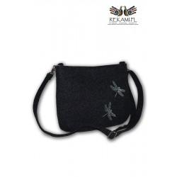 Ciemna torebka na ramię – Ważki
