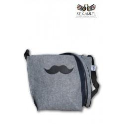 Torebka filcowa z wąsem - Mustache