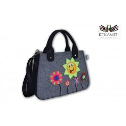 Trapezówka – Młodzieżowa torebka z kwiatkami