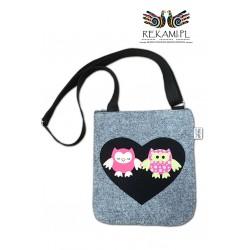 Listonoszka z sowami - Kolorowa torebka dziecięca