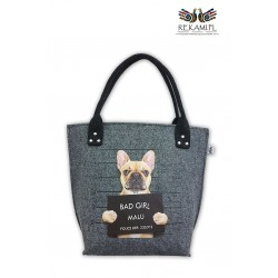 Torba filcowa - Buldog - Bad Girl