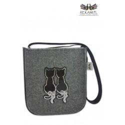 Torebka dziecięca - Para cekinowych kotków
